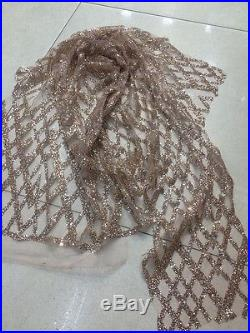 Gorgeous Sparkle Glitter Soft Tulle Bridal Mesh Lace Fabric 5yds Lot