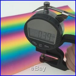 Gradient Rainbow Clear Transparent PVC Fabric Vinyl Film Bag Craft Material Roll