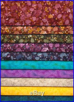 HUGE LOT 250 Piece Floral Earth Tones Quilt Fabric Scrap Bundle +30 Yards
