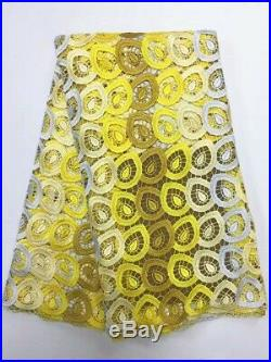 High Quality African Cord Lace Fabric Latest Guipure Mesh Party Dress Sewing 5Y