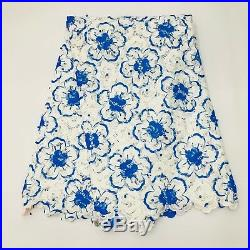 High Quality African Lace Fabric Swiss Voile Lace In Switzerland Wedding Beaded