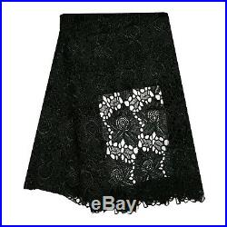 High Quality Cord Lace 5Y Nigerian Lace Fabric For Wedding African Cupion Fabric