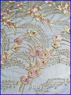 High Quality French Tulle Net Lace African Swiss Voile Lace Fabric Beaded&Stone