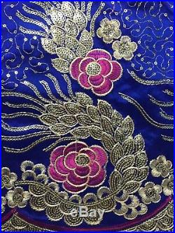 High Quality George Lace Fabric Sequins/African Style Cotton Lace/Evening Dress