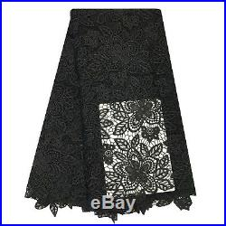 High Quality Nigerian Cord Lace Fabric Guipure Embroidery Sewing Material White
