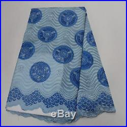 High Quality Swiss Voile Lace Fabric Embroidery Cotton Lace Fabric 5Yards/Lot