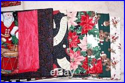 Huge Lot Over 45 Yards Assorted Cotton Christmas Quilting Fabric