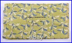 Indian 100% Cotton Hand Block Natural Sanganeri Floral Print Fabric 100 Yard LOT