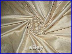 Ivory 100% Dupioni Silk Fabric 54 wide Yardage Wholesale Lot Bolt Roll 32 Yards