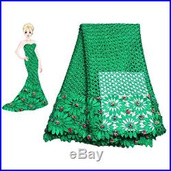 KENLACE 5Yards/Lot African Cord Lace Fabrics For Women Dress guipure lace fabric