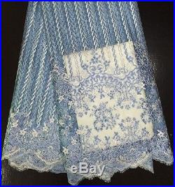 LATEST TULLE STONES EMBROIDERED BRIDAL DRESS MESH LACE FABRIC 5YDS LOT