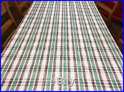 Large Lot 11+ Yards RICHLOOM 1990's Plaid Screen Print Home Decor Fabric (RF961)