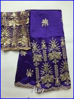 Latest Beaded Fabric Dress French Lace Sequin African George Lace Fabric 2 Yards