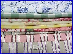 Laura Ashley Fabric sample- Lot of 70 pcs + 1 Yard