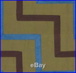 Lee Jofa Oscar De La Renta Chevron Ribbon Loden/Blue/Brown Upholstery 2 yard LOT