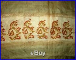 Light Henna Cream Pure Silk 4 yard Vintage Sari Saree Fabric Lot Lots of #6IAF7
