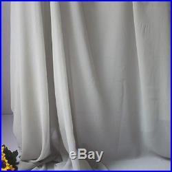 Light gray Chiffon fabric sheer bridal wedding lining fabric 60 5 yards per lot