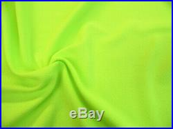 Liverpool Textured Fabric 4 way Stretch Scuba Neon Lime Green L300