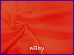 Liverpool Textured Fabric 4 way Stretch Scuba Orange K709