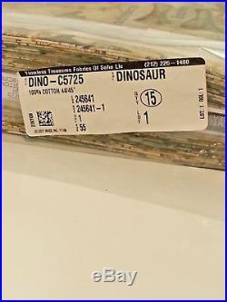 Lot 15 Yards Jurassic Dino Skeleton DINO-C5725 Timeless Treasures Cotton Fabric