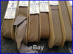 Lot 70 yards 1 1/2 Vintage Gray Taffeta Back Velvet Ribbon Fabric All Rayon