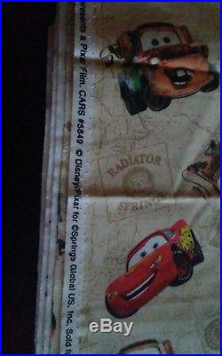 Lot of 5, Disney CARS & It's Racing fabric from Springs -approx. 27 yards total