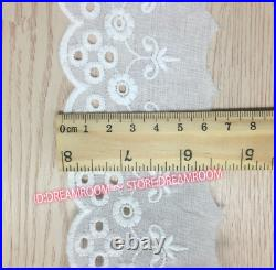 Lots 2 Yard Vintage Cotton Fabric Lace Trim Wedding Ribbon Sewing Craft DIY B281