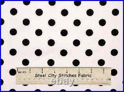 Lots-A-Dots Polka Dot Diva Girl Geometric Midnight Blue Dots Cotton By The Yard