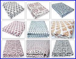 Meera-Handicraft Hand Block Print Fabric Indian Handmade Cotton lot 100yard HBPF