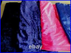 Mixed Lots Glitter Velvet Fabric 5 1/2 yards Crafts Doll Clothes Sewing Costumes