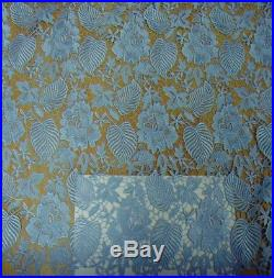 NEWEST GUIPURE CORD FLORAL BRIDAL LACE FABRIC 5YDS LOT- STATE YOUR PREFER COLOR