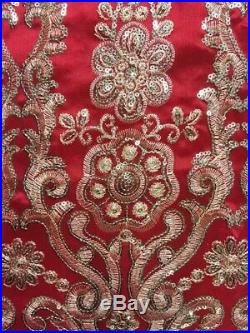 New High Quality Sequins George Lace Fabric Wedding Cotton Material Silk Party