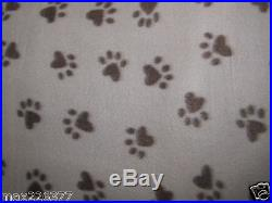 New Polar fleece ANIMAL PAW PRINT fabric WHOLESALE best price 4 yards Lot