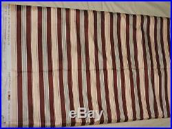 OVER 14 yard lot 5TH AVENUE DESIGNS FABRIC 1986 Wine Stripe Drapery wt cotton