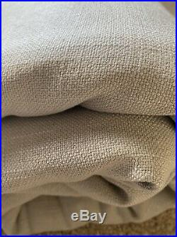 Pottery Barn Performance Basketweave Upholstery Fabric in Light Gray8 yard lot