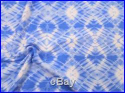 Printed Liverpool Textured Fabric 4 way Stretch Blue Diamond Tie Dye J207