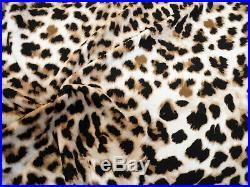 Printed Liverpool Textured Fabric 4 way Stretch Scuba Cheetah Taupe Black K604
