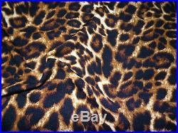 Printed Liverpool Textured Fabric 4 way Stretch Scuba Leopard Dark Brown H500