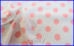 Printed Liverpool Textured Fabric 4 way Stretch Scuba Polka Dot Blush Pink J504