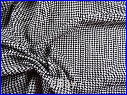 Printed Liverpool Textured Fabric Stretch Micro Houndstooth Black White I208