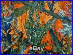 Printed Liverpool Textured True Timber MC2 Orange Blaze Camouflage Fabric K608