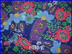Printed Modal Fabric Polyester Spandex Stretch Navy Pink Blue Floral D208