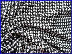 Printed Ponte de Roma Liverpool Fabric Stretch Houndstooth Black White K509