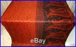 Rust Pure Silk 4 yard Vintage Sari Saree Fabric Lot Lots of Colours #6IAF8