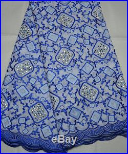 Swiss Voile Latest 100% Cotton Bridal Lace Fabric 5yds Lot State Color Prefer
