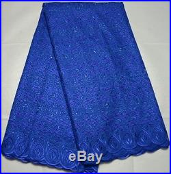 Swiss Voile Latest 100% Cotton Bridal Lace Fabric 5 Yds Lot State Color Prefer