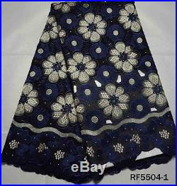 Swiss Voile Luxury 100% Cotton Bridal Lace Fabric 5 Yds Lot State Color Prefer