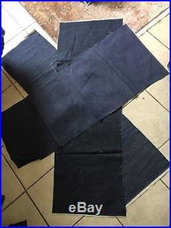 Selvedge PURPLE Green Red LINE Selvage Denim Indigo Fabric Material Lot Yards
