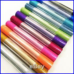 Sparkle Smooth Fine Glitter Fabric Leather Twinkle Craft Material Bow Decor 5Yds