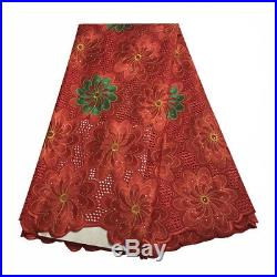 Swiss Voile Big Lace Fabric African Lace Embroidery Cotton Sewing Material Dress